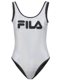 Logo One-Piece Swimsuit in Silver by