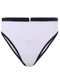 White Swim Bottom With Lining by