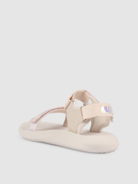 Logo Patch Sandals in Cream by