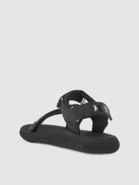Logo Patch Sandals in Black by