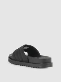 Puffy Slide Sandals in Black by