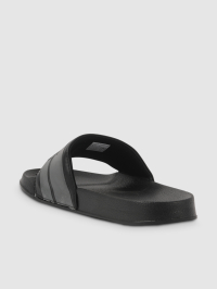 Slide Logo Sandals in Black and Grey by
