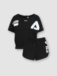 French Terry Set in Black by