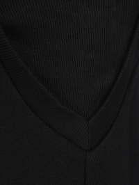 French Terry Dress in Black by