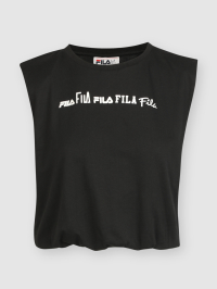 Fila Print Cropped Top in Black by