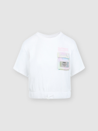 Noi Siamo Cropped T Shirt in White by