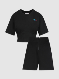 French Terry Rainbow Set in Black by