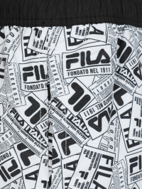 Fila Paper Print Swimshorts in Black and White by
