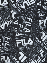Fila Paper Print Swimshorts in White and Black by