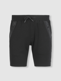 Classic Straps Bermuda Shorts in Black by