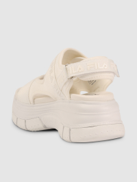 Platform Wedge Sandals in White by