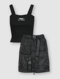 Fashion Skirt Set in Black by