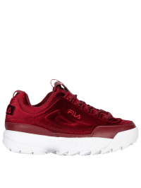 Disruptor II Premium Velour Sneakers In Red by