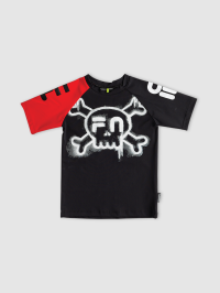 Fila x Nununu Ages 1-5 Surfshirt in Black and Red by