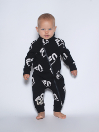 Fila x Nununu Ages NB-24 Months Zip Overall in Black by